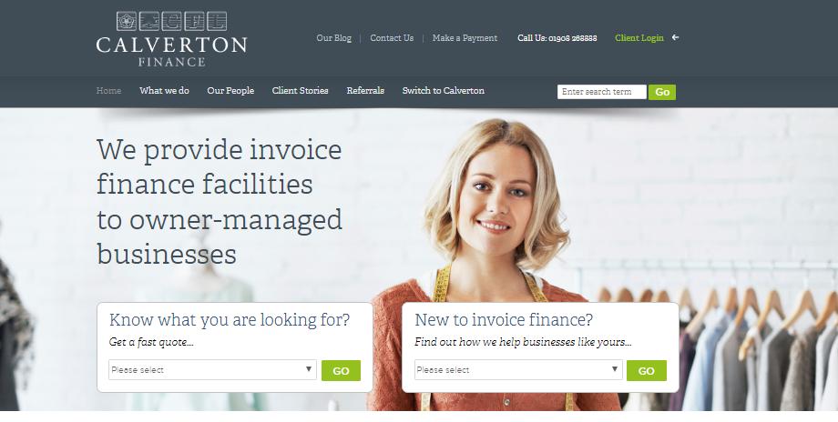Calverton Invoice Finance Website