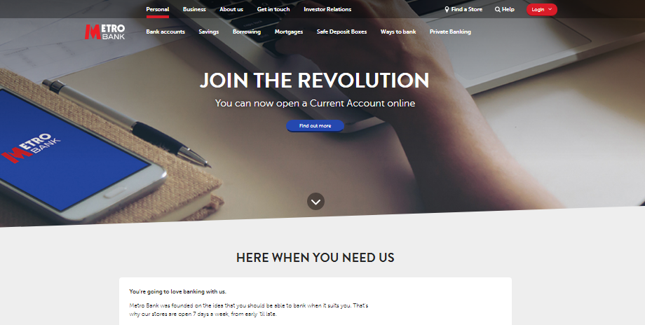Metro Bank SME finance website