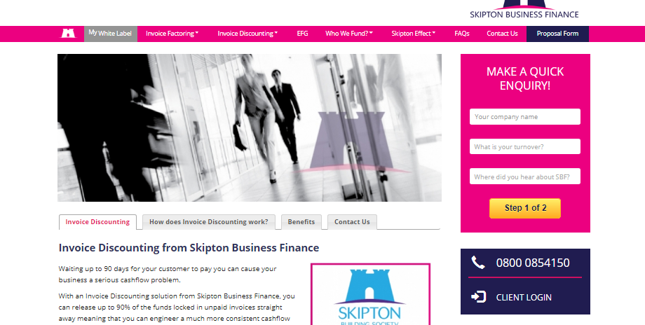 Skipton Business Finance website screenshot