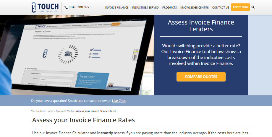 Touch Financial Website