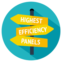 highest efficiency panels