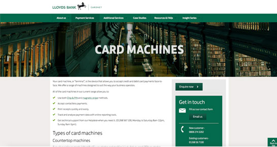 Lloyds bank card net screenshot