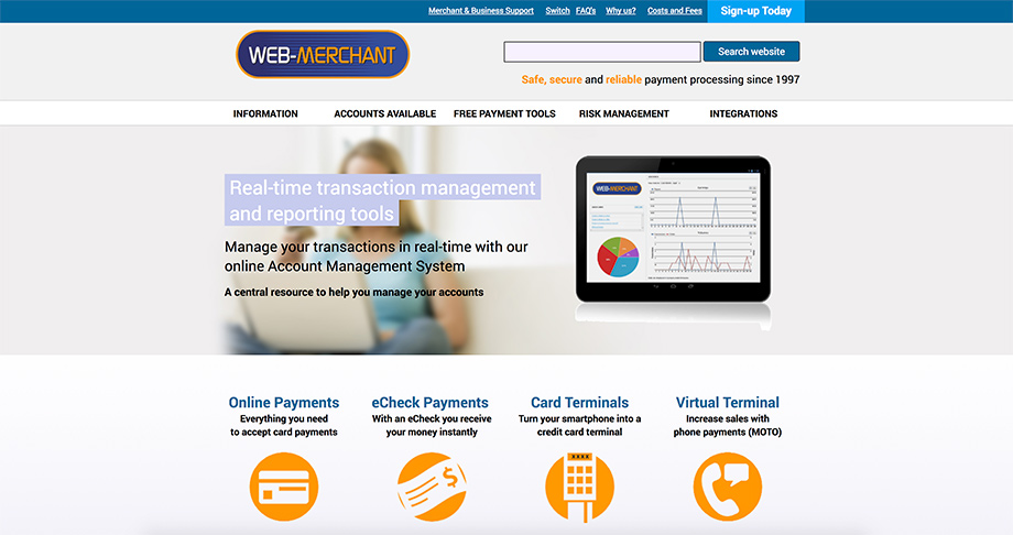 WebMerchant screenshot