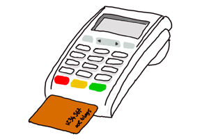 Credit card machines logo
