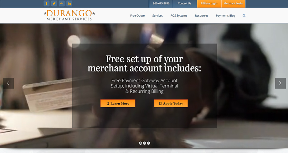 durango merchant services screenshot