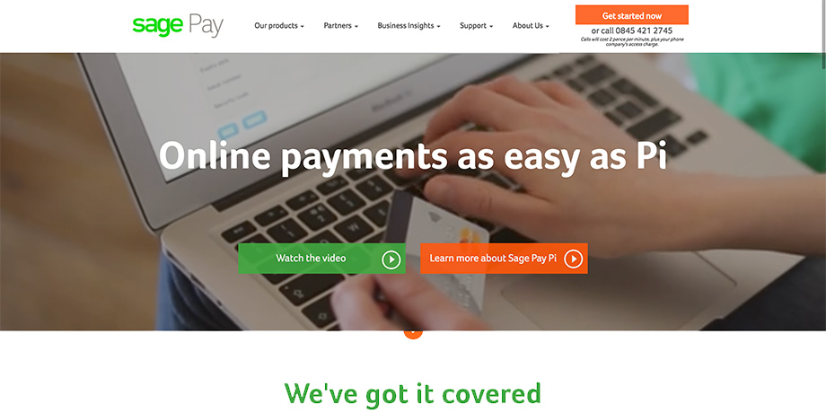 Sage Pay screenshot