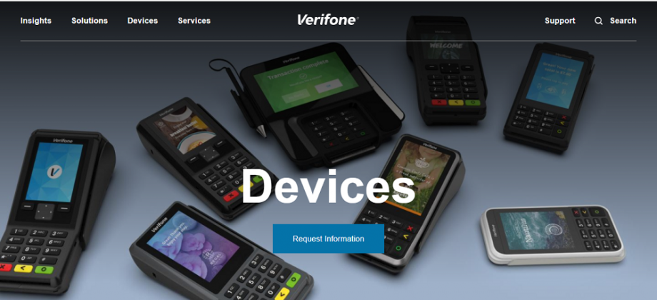 Verifone Card Machines screenshot
