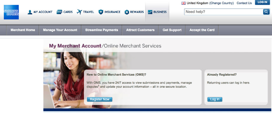 AMEX screenshot