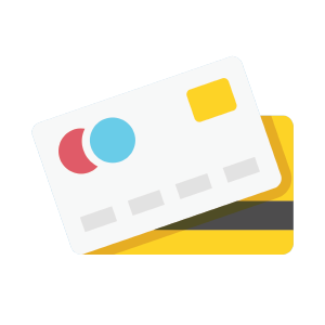 Credit card processing icon