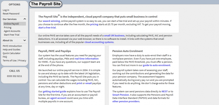 The Payroll Site Screenshot