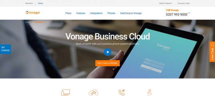 Vonage Screenshot