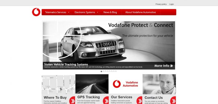Vodafone Automotive Screenshot