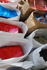 Plastic bags in plastic bags