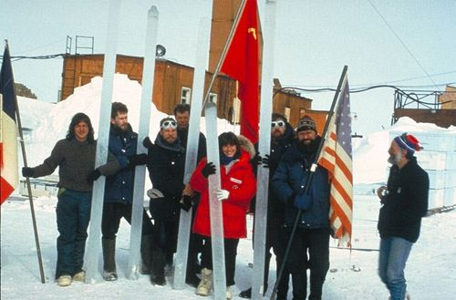 Vostok Station, Antarctica. Coldest places on Earth.