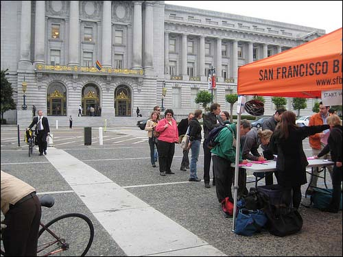 SFBC Organizes people for the SFMTA hearing