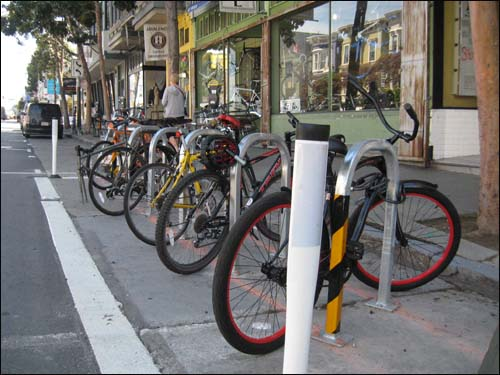 Valencia bike parking