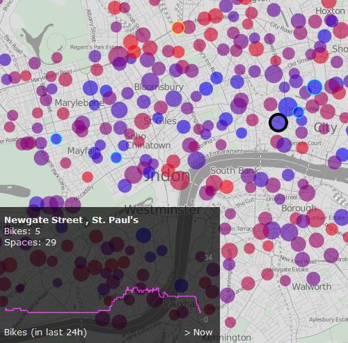 London cycle scheme map