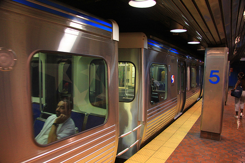 Philadelphia Market-Frankford subway trains