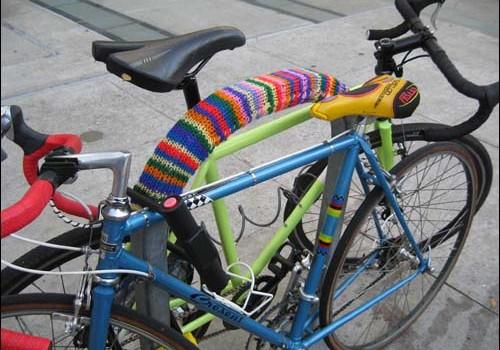 knit bike rack