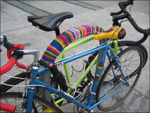 knit bike rack