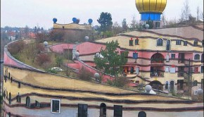 Hundertwasser green roof