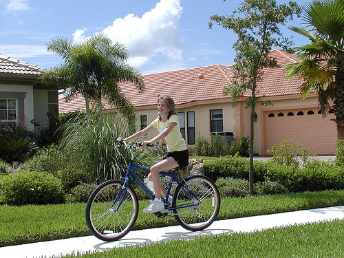 bicycling in florida sun