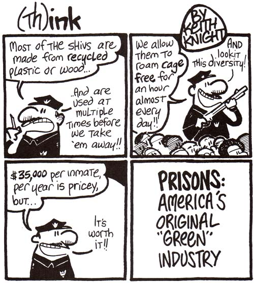 Keith Knight's (Th)ink comic on prisons