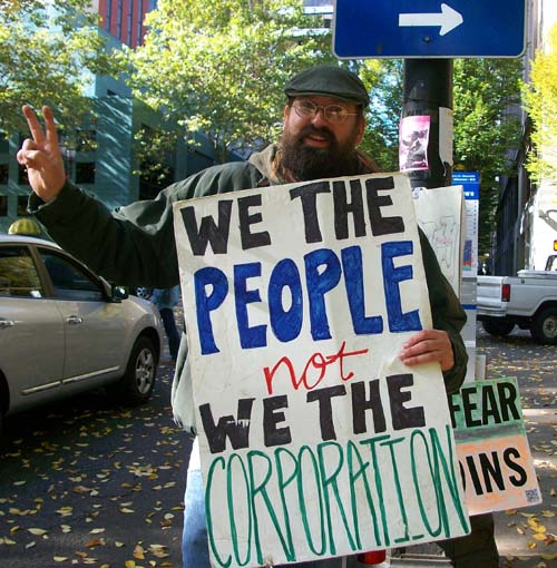 Bill at Occupy Portland