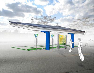 solar power ev solar canopy