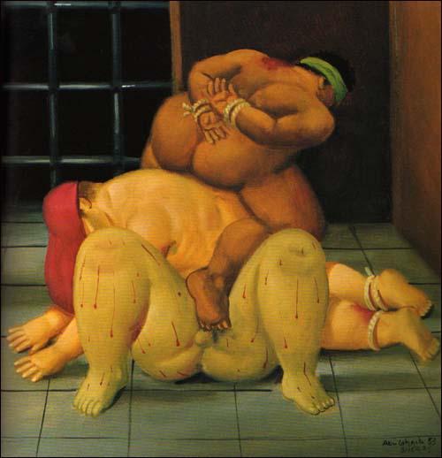 Botero prison torture painting