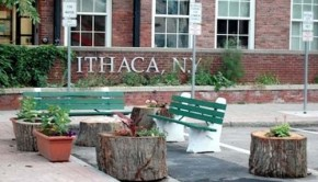Ithaca mayor's parking spot mini park