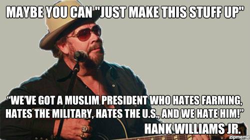 Hank Williams Jr. - spurious celebrity comments election 2012