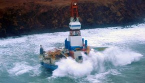 Shell oil rig aground in Alaska