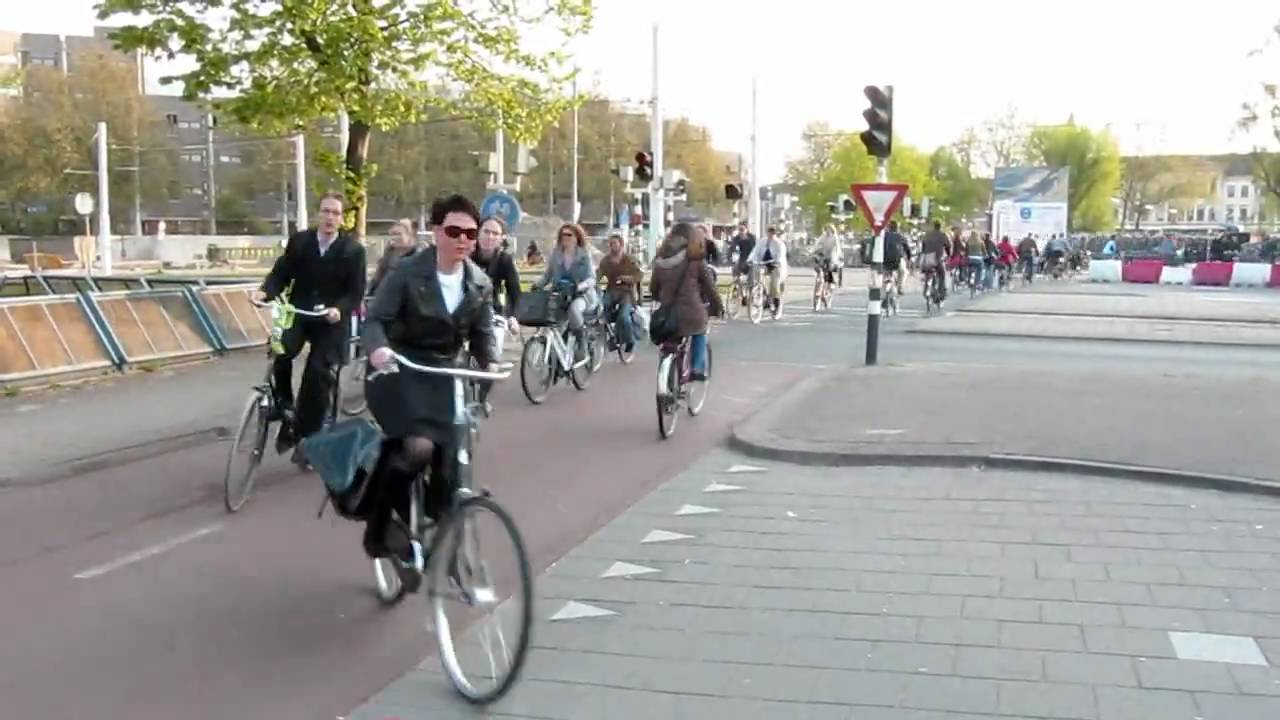 Rush Hour in Utrecht, Netherlands — Bicycles, Bicycles, & Bicycles