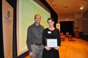 Autumn Sands receives Woman of Hope Award